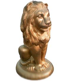 Лев сидя на подставке (3.1)