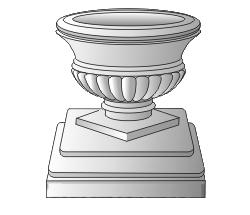 Ваза малая с пьедесталом (1.5)
